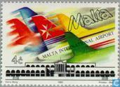 Briefmarken - Malta - Flughafen