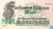 Dusseldorf 500 Million Mark in 1923