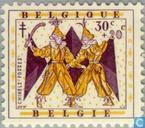 Timbres-poste - Belgique [BEL] - légendes belges