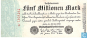 Banknoten  - Reichsbanknote - Deutschland 5 Millionen Mark