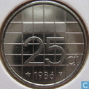 Coins - the Netherlands - Netherlands 25 cents 1986