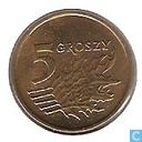 Monnaies - Pologne - Pologne 5 groszy 1992