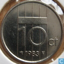 Coins - the Netherlands - Netherlands 10 cents 1983