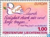 Postzegels - Liechtenstein - Europa – Vrede en vrijheid