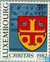 Briefmarken - Luxemburg - Gemeinde Waffen