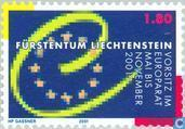 Postage Stamps - Liechtenstein - President Council of Europe