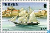 Timbres-poste - Jersey - Construction navale