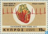 Postage Stamps - Cyprus [CYP] - World Heart Month