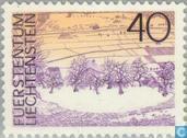 Postzegels - Liechtenstein - Landschappen