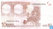 Billets de banque - Zone Euro - 2002 Dated 'Signature J.C. Trichet' Issue - Zone Euro 10 Euro X-P-T