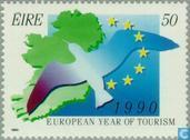 Postage Stamps - Ireland - European Year of Tourism