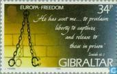 Postage Stamps - Gibraltar - Europe – Peace and freedom