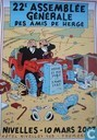 Affiches et posters - Bandes dessinées - 22e Assemblée Générale des Amis de Hergé