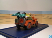 """Modellautos - Atlanten - De rode jeep op de cover uit """"Kuifje en het zwarte goud"""""""