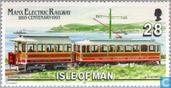 Postage Stamps - Man - 100 years of electric trams