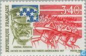 Timbres-poste - France [FRA] - Entrée en guerre des États-Unis lors de la 1ère guerre mondiale