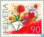 Postage Stamps - Switzerland [CHE] - Flower Greetings
