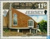 Timbres-poste - Jersey - Europe – Architecture moderne