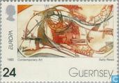 Timbres-poste - Guernesey - Europe – Art contemporain