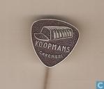 Speldjes, pins en buttons - Koopmans - Leeuwarden - Koopmans Cakemeel (plectrum) [zwartbruin]]