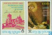 Postzegels - Vaticaanstad - Gebedsbijeenkomst voor vrede in Europa