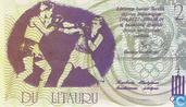 Billets de banque - Compétitions sportives 27/7-4/8 1991 - litauru Lituanie 2