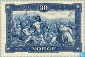 Postzegels - Noorwegen - Koning Olaf II