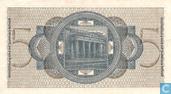 Billets de banque - Reichskreditkassen - Reichsmark Allemagne 5
