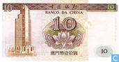Billets de banque - Banco da China - Macao 10 Patacas