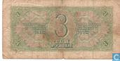 Bankbiljetten - Staats Bankbiljet van de C.C.C.P - Sovjet Unie 3 Roebel