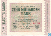 Billets de banque - Reichsbanknote - 10 milliards Mark Allemand