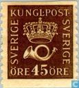 Postage Stamps - Sweden [SWE] - Crown and Post Horn (Type II)