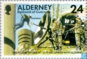 Postage Stamps - Alderney - 30th Signal Regiment