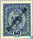 """Postage Stamps - Austria [AUT] - Print """"Deutsch Österreich"""