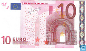 Banknotes - Eurozone - 2002 Dated 'Signature J.C. Trichet' Issue - Eurozone 10 Euro P-G-T
