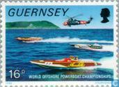 Timbres-poste - Guernesey - Speedboats