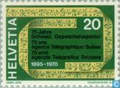Timbres-poste - Suisse [CHE] - SDA 75 années