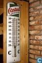 Plaques émaillées - Castrol - Castrol Brevetée thermometer