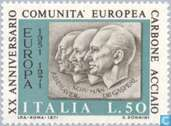 Postage Stamps - Italy [ITA] - 20 years of ECSC