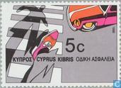 Timbres-poste - Chypre [CYP] - Année européenne de la sécurité routière