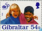 Postage Stamps - Gibraltar - 50 years UNICEF