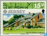 Postzegels - Jersey - Europa – Moderne architectuur