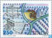 Postage Stamps - Italy [ITA] - Culture Farmers