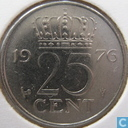 Coins - the Netherlands - Netherlands 25 cents 1976