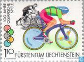 Postzegels - Liechtenstein - Olympische Spelen 100 jaar