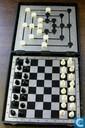 Jeux de société - Schaak - Magnetisch schaak - molenspel in cassette