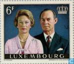 Timbres-poste - Luxembourg - noces d'argent