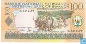 Billets de banque - Banque Nationale du Rwanda / Banki Nasiyonali Y´u Rwanda - Rwanda - 100 Francs P29b