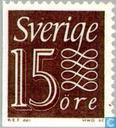 Timbres-poste - Suède [SWE] - 15 Brown