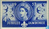Postage Stamps - Great Britain [GBR] - Scouting 50 years